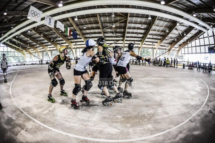 Block in Turin Roller Derby - Day 1
