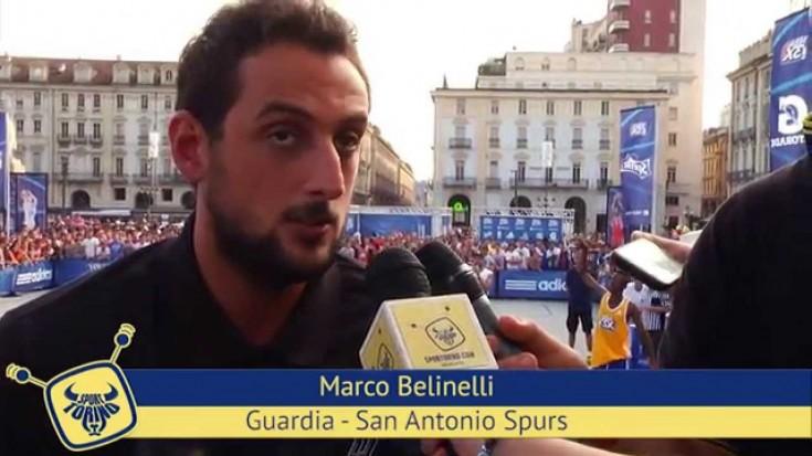 Marco Belinelli alla tappa di Torino dell'NBA3X Tour 2014