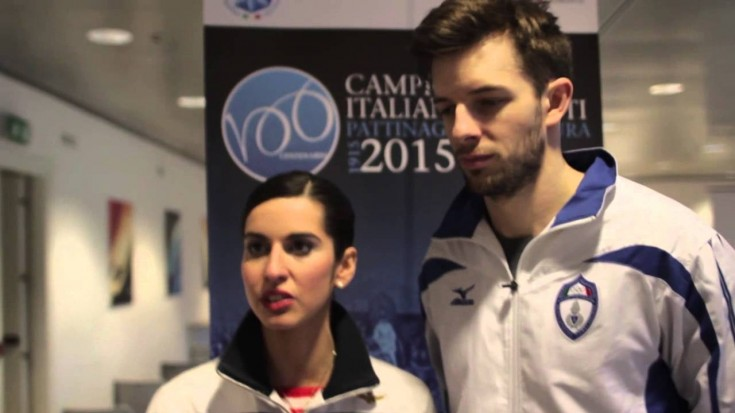 Ondřej Hotárek e Valentina Marchei ai campionati italiani assoluti 2014