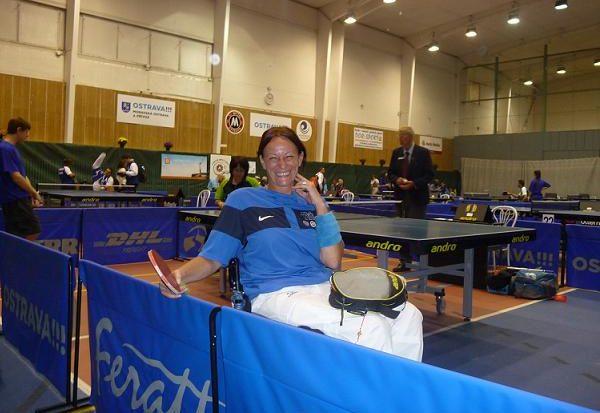 Patrizia Saccà Ostrava tennis tavolo