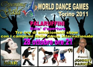 28-31 ottobre: World Dance Game al Palaruffini