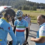 Ciclismo: Fabio Aru e Vincenzo Nibali in preparazione della Vuelta a Sestriere