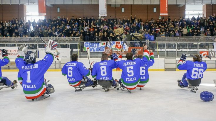 sledge hockey - Italia-Corea