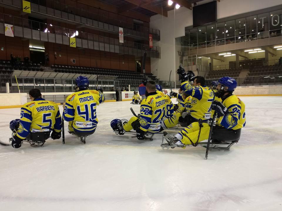 Para Ice Hockey: le Eagles battono i Tori Seduti all'esordio in campionato